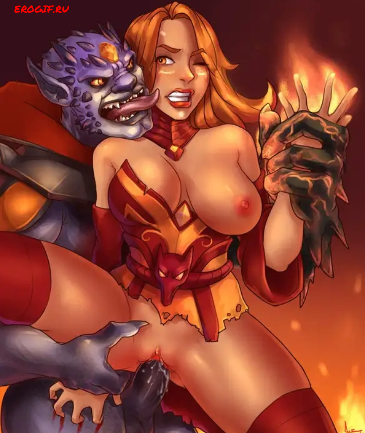 Хентай картинки из игры дота 2, голые персонажи из dota 2 занимаются сексом.