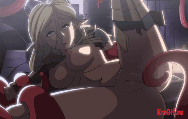 Хентай тентакли гиф, аниме порно Hentai gif, девушки секс с tentacle.